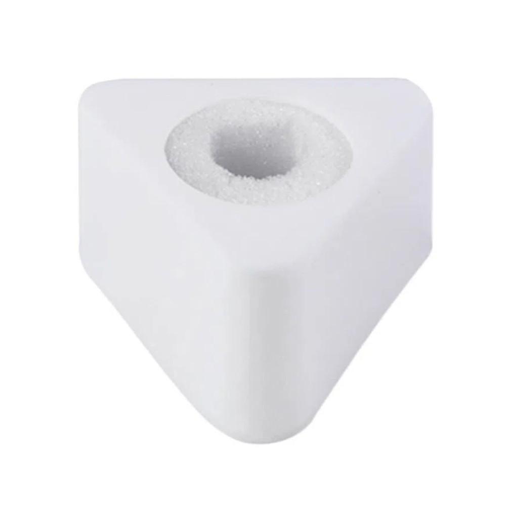 Canopla de Acrílico para Microfones Triangular branca