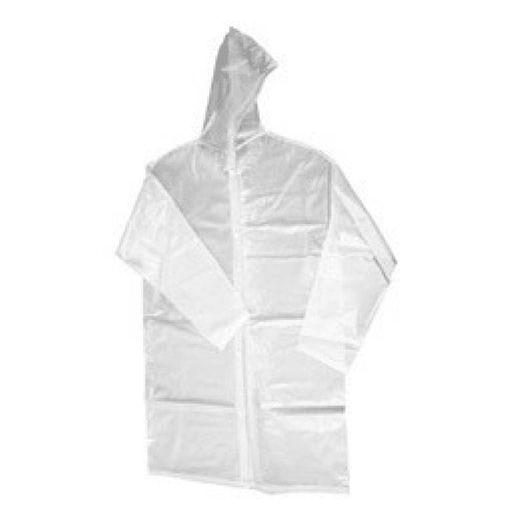 Capa de Chuva Plástica Descartável Transparente  - Casa do Roadie