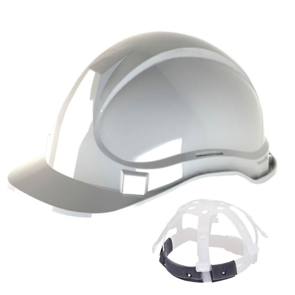 Capacete de Segurança com Carneira Plástica Branco