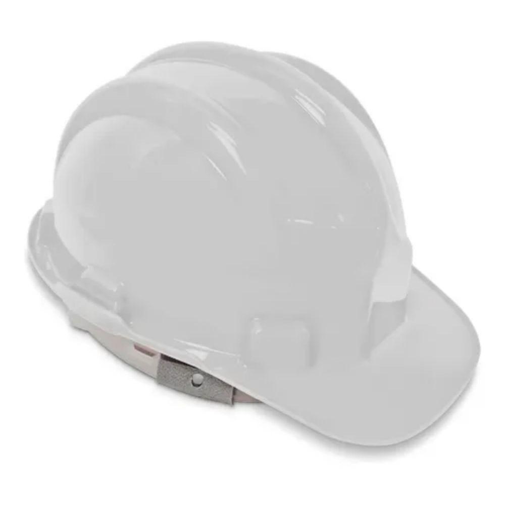 Capacete de Segurança com Carneira Plástica Branco Plastcor CA 31469
