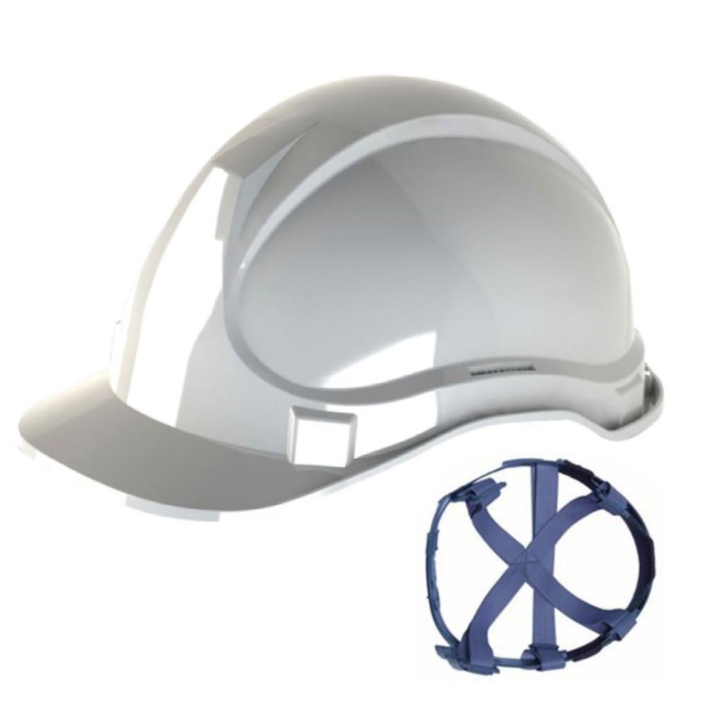 Capacete de Segurança com Carneira Têxtil Super Safety Branco