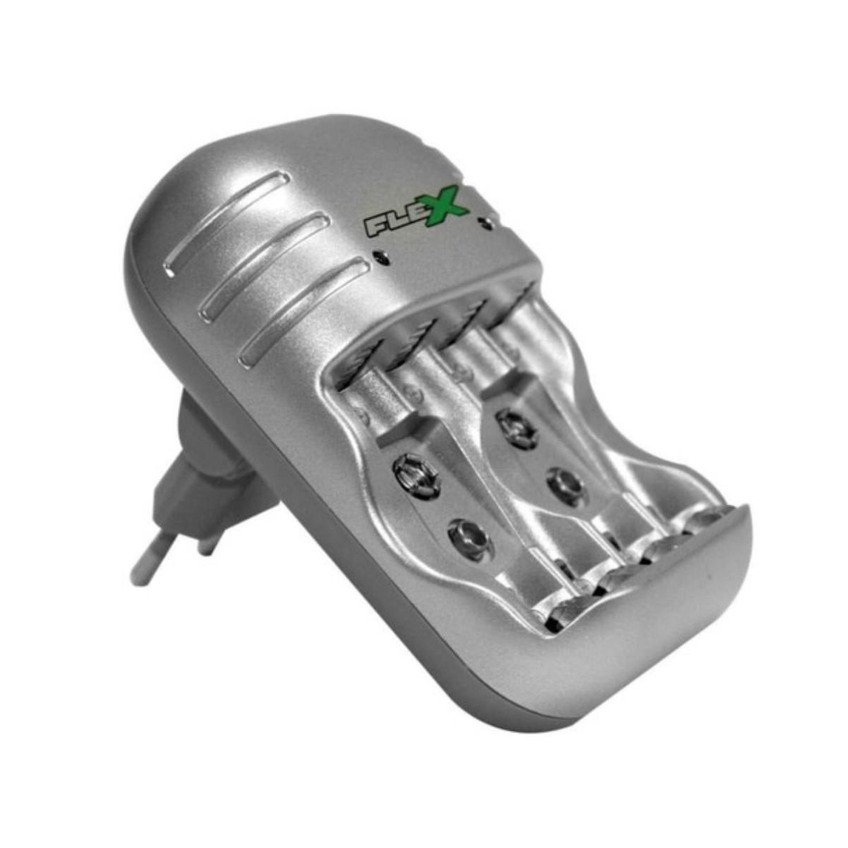 Carregador de Pilhas Universal Flex Para 4 pilhas  - Casa do Roadie