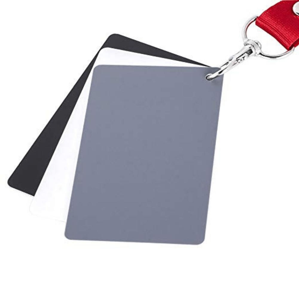 Cartão para Balanço de Branco 3 Em 1 Preto Branco e Cinza 18%  - Casa do Roadie