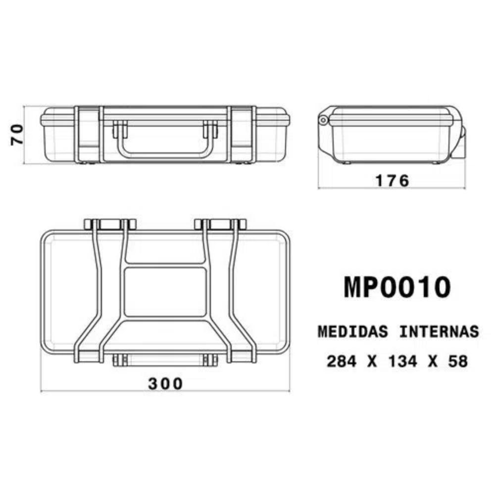 Case rígido Patola MP-0010 Amarela  - Casa do Roadie