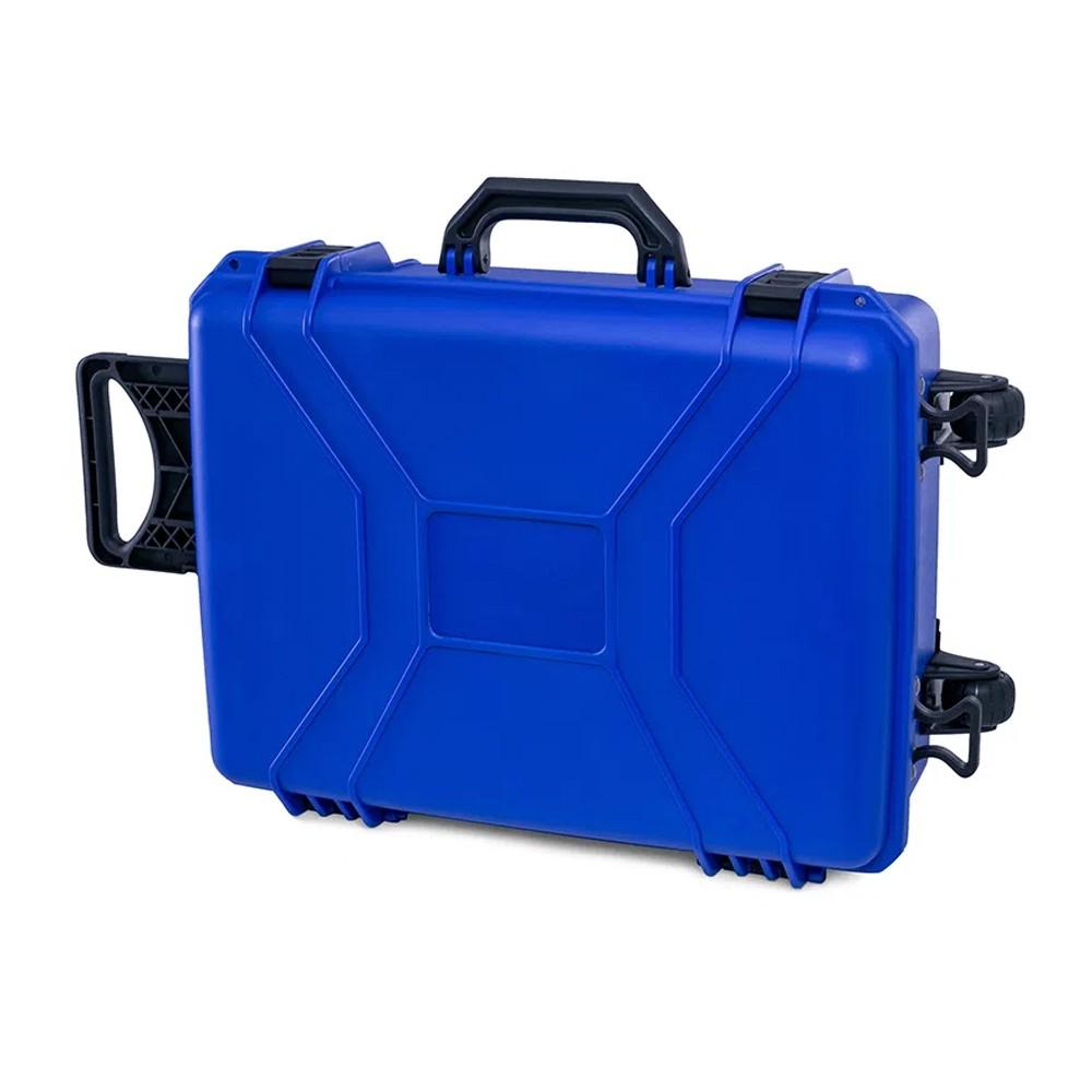 Case Rígido Patola MP-0050/4 Azul com Rodas