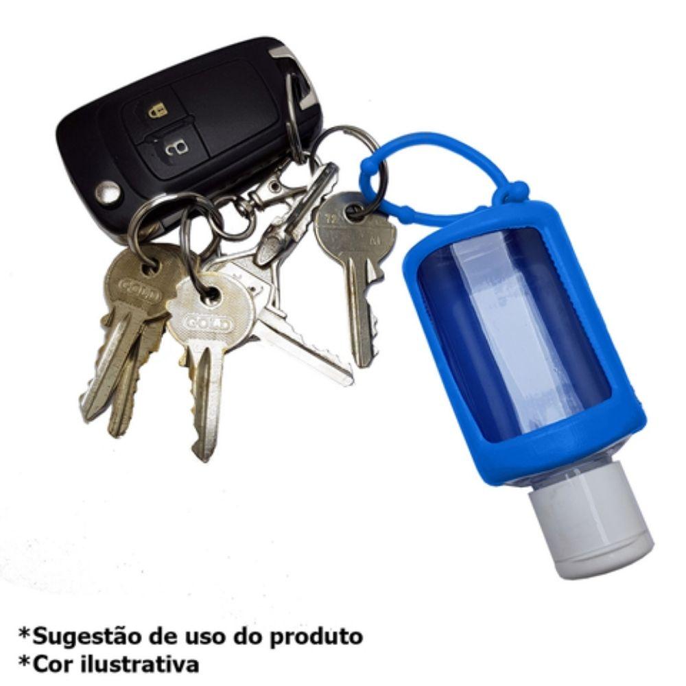 Chaveiro porta álcool gel 30ml Azul  - Casa do Roadie