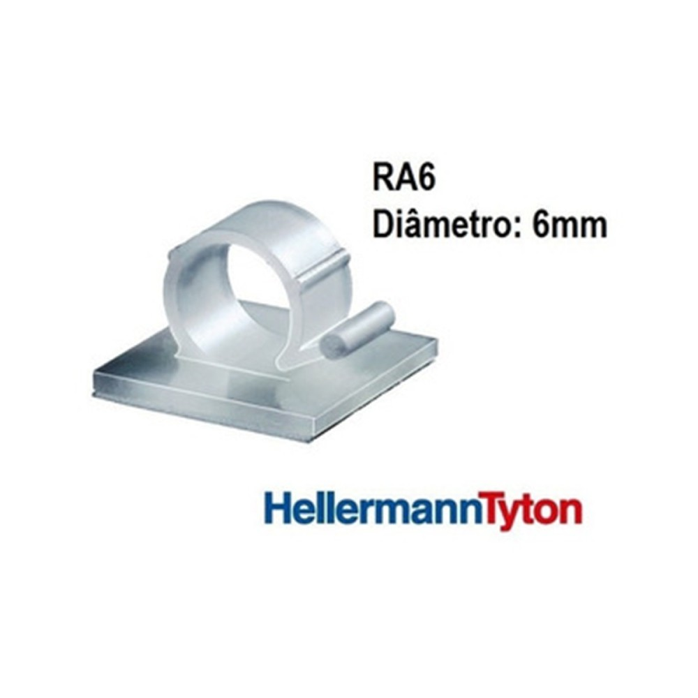 Clip Adesivo Ra6 Hellerman Natural 100 unidades  - Casa do Roadie