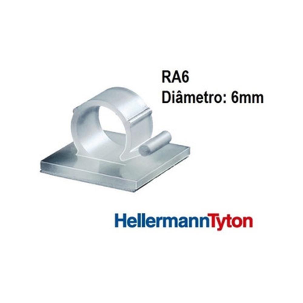 Clip Adesivo RA6 Hellermann Natural - kit com 05 unidades