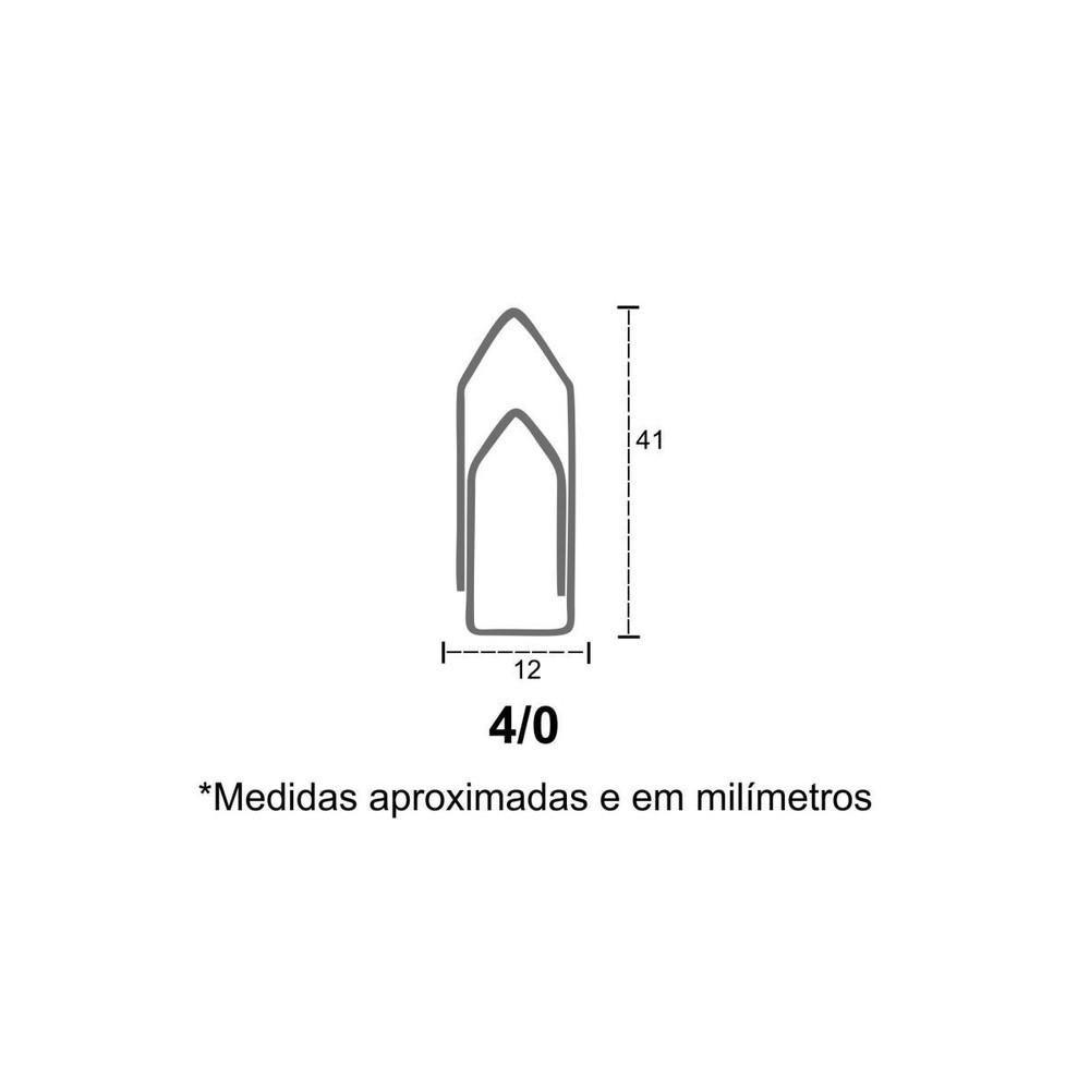 Clips para Papéis Nº04 - 400 Unidades