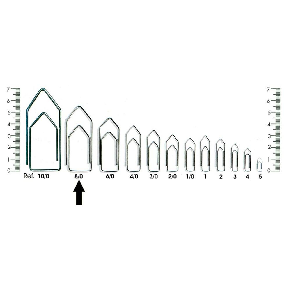 Clips para Papéis Nº08 - 137 Unidades  - Casa do Roadie