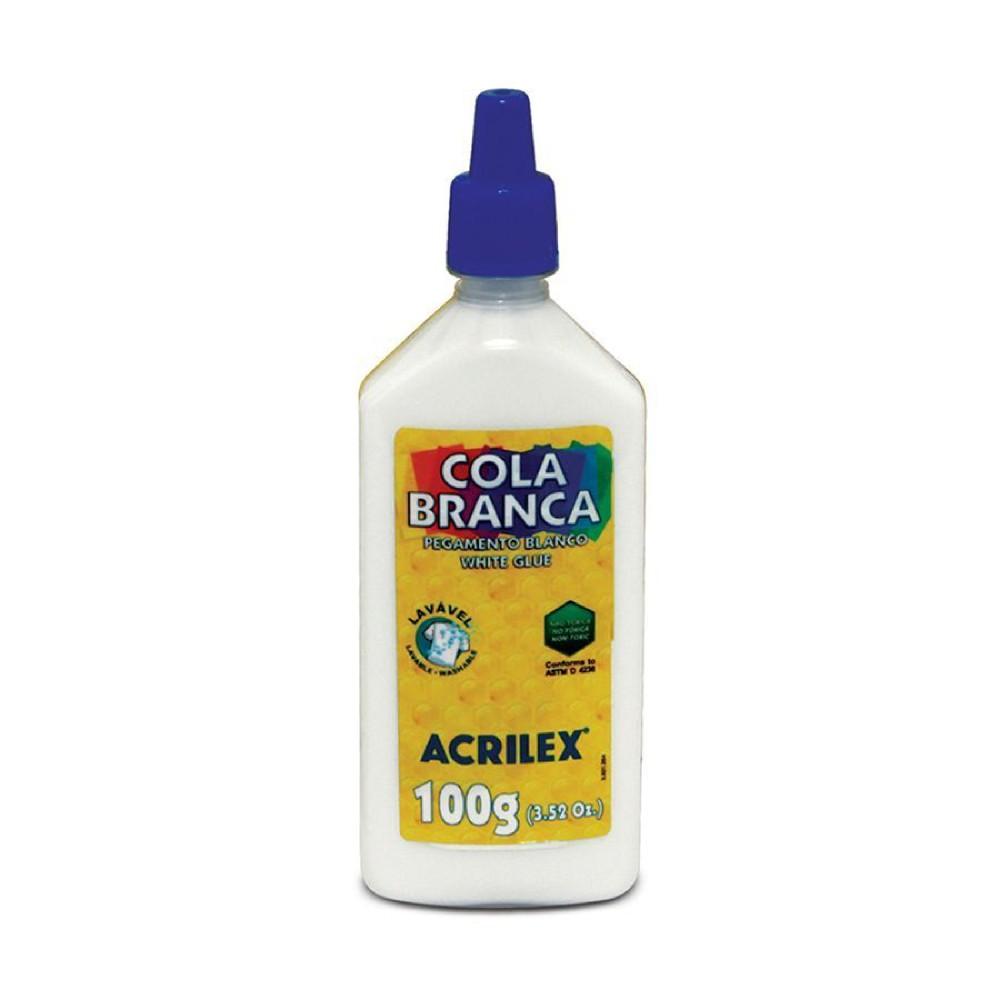 Cola Branca Acrilex - 100g  - Casa do Roadie