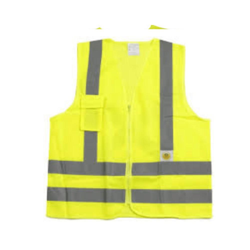 Colete de Segurança Refletivo com 1 Bolso Super Safety Amarelo GG