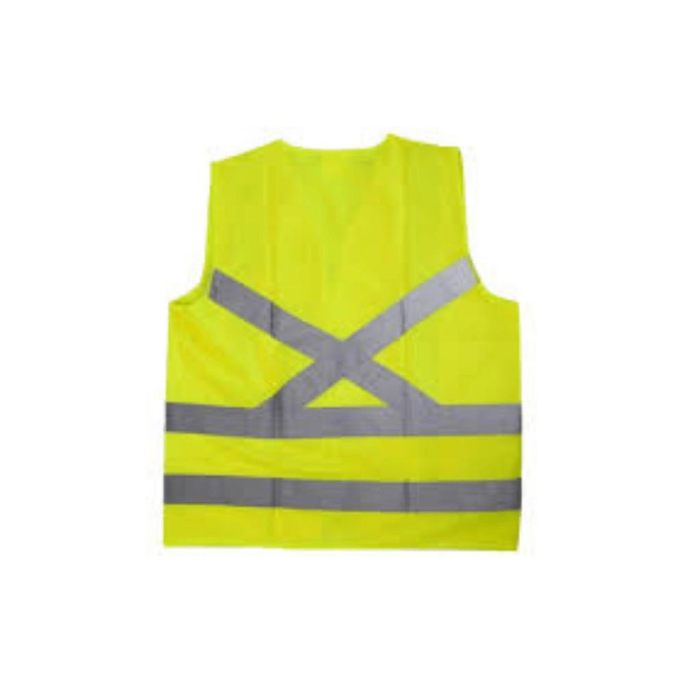 Colete de Segurança Refletivo com 4 Bolsos Super Safety Amarelo GG