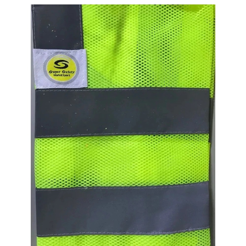 Colete de Segurança Refletivo Super Safety Amarelo GG  - Casa do Roadie
