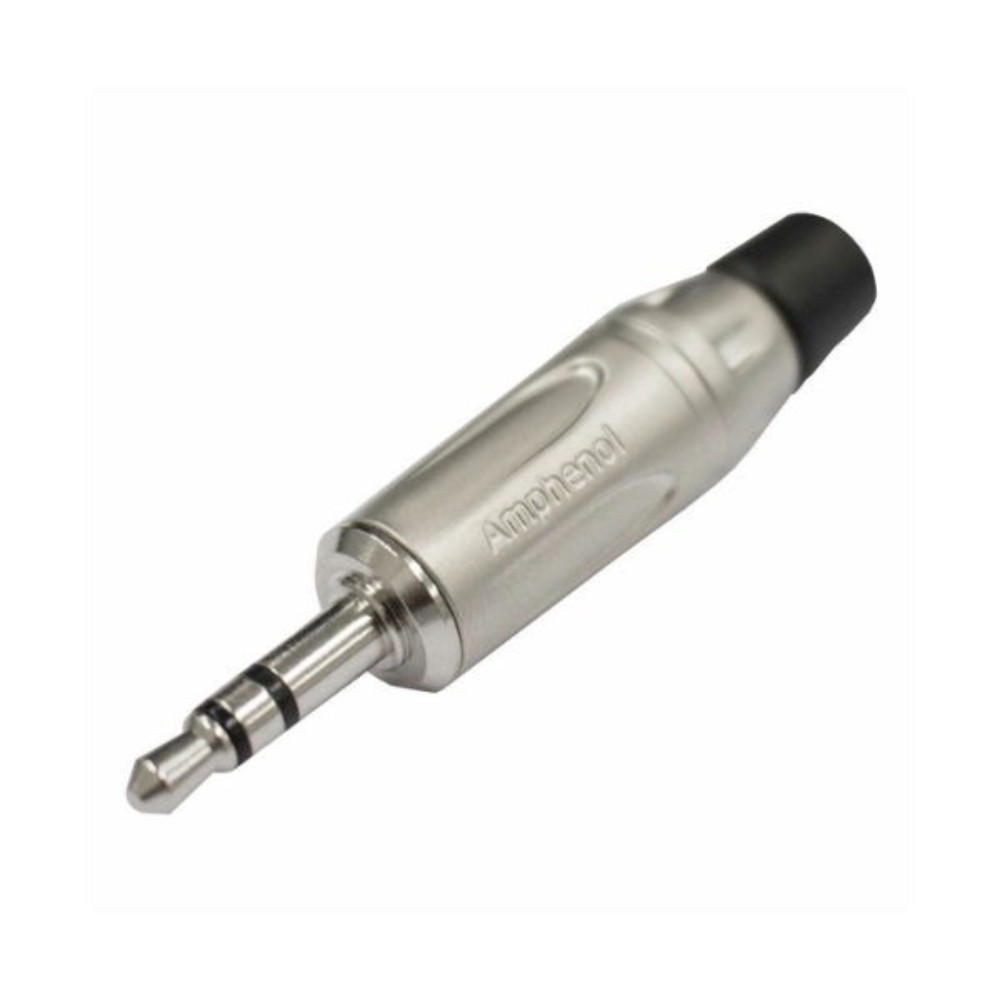 Conector Plug P2 Macho Stereo Amphenol Prata