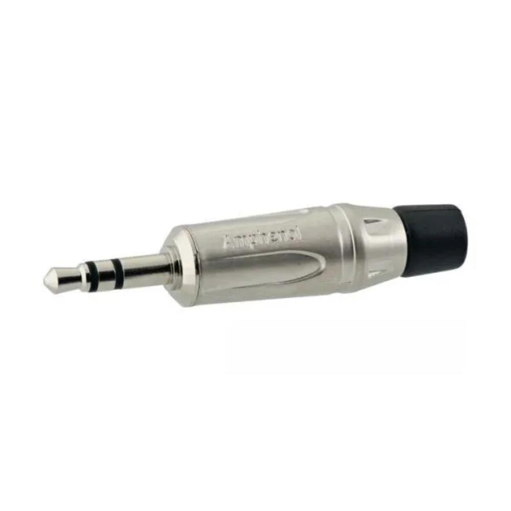 Conector Plug P2 Macho Stereo Amphenol Prata  - Casa do Roadie