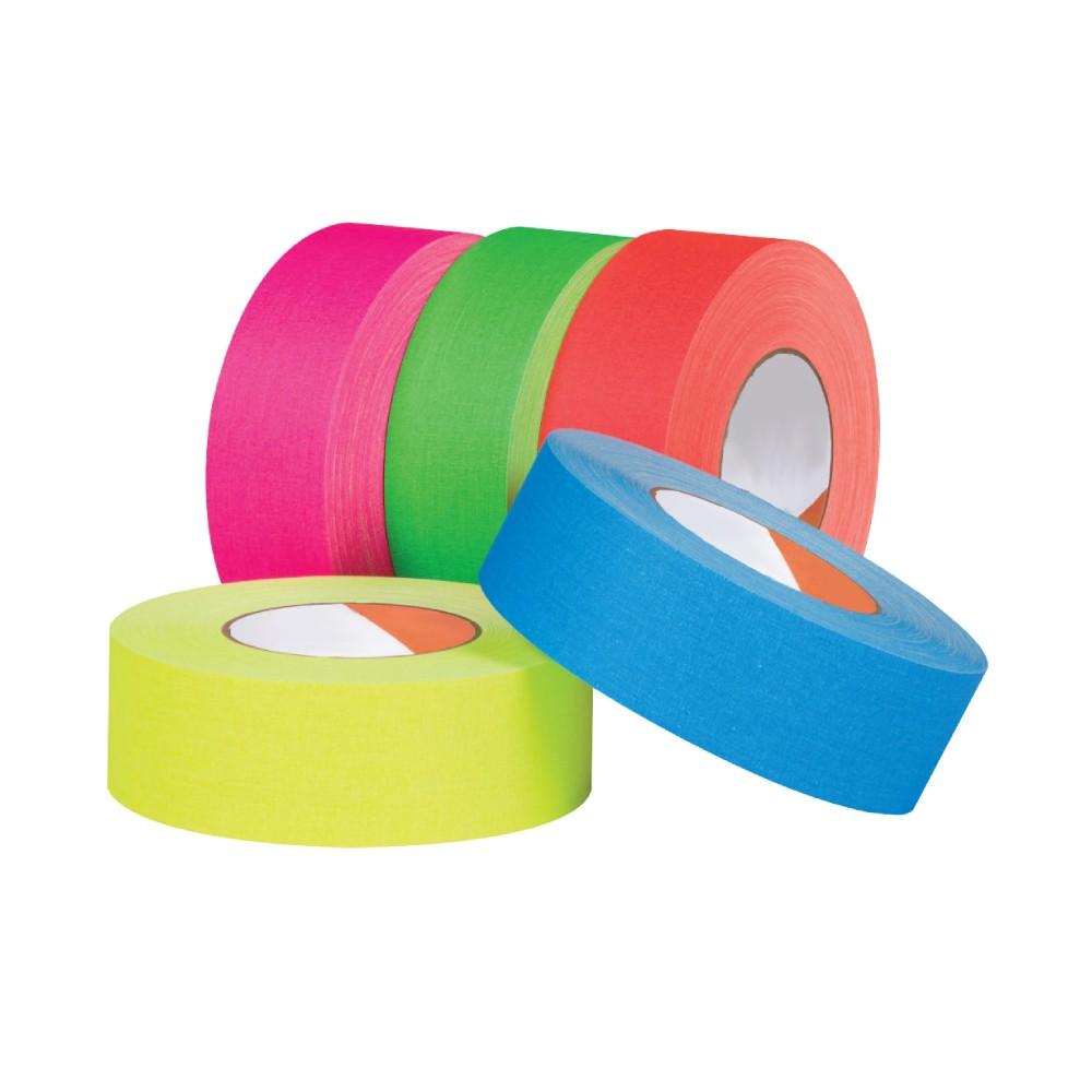 Conjunto de Fitas de Tecido Pocket Spike Pro Tapes 24mm X 5m - 5 Cores Fluorescentes  - Casa do Roadie