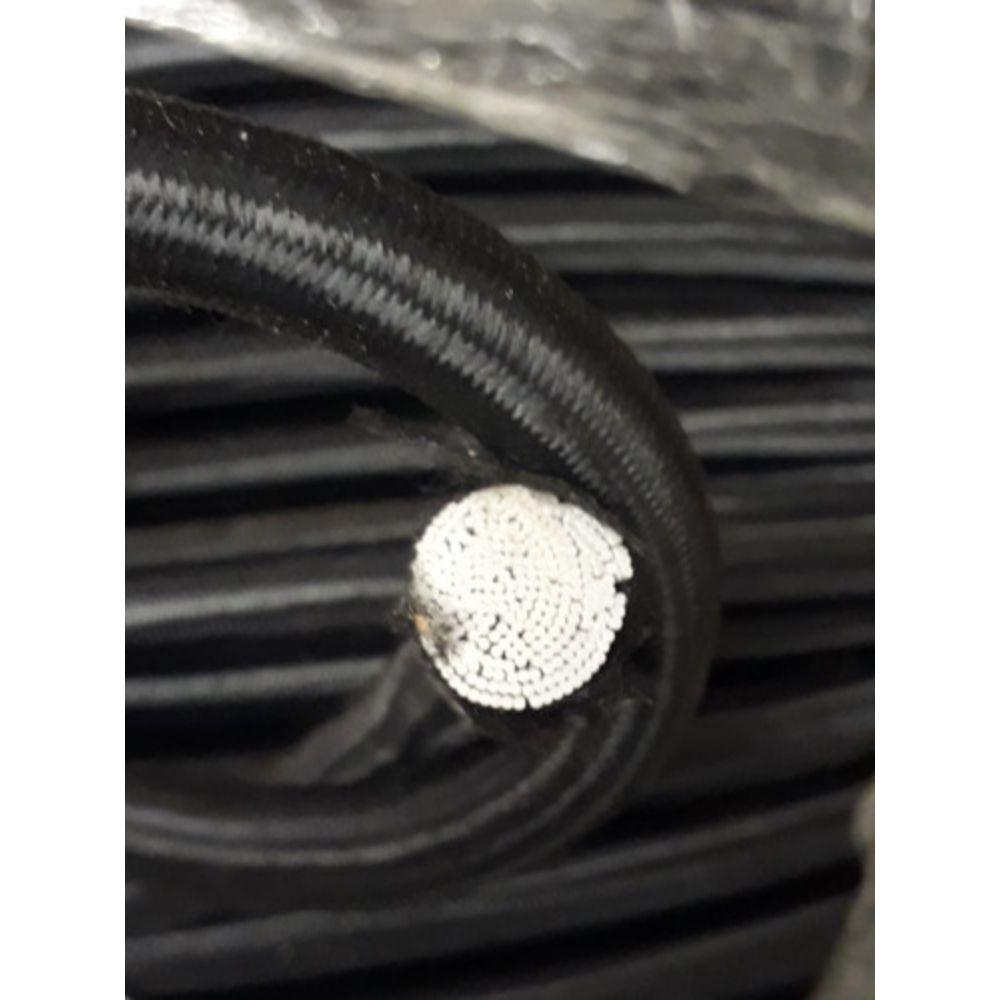 Corda elastica 10mm preta - metro  - Casa do Roadie