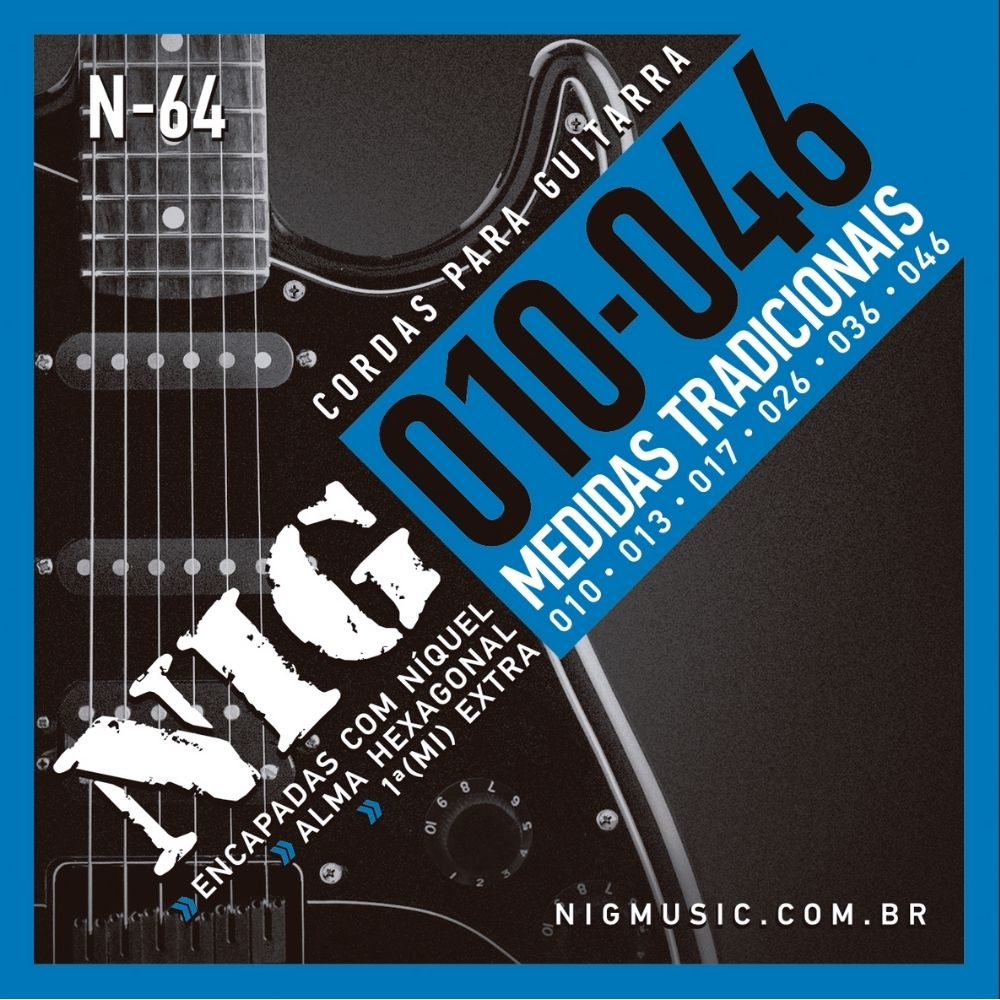 Corda para guitarra NIG 0.10  - Casa do Roadie