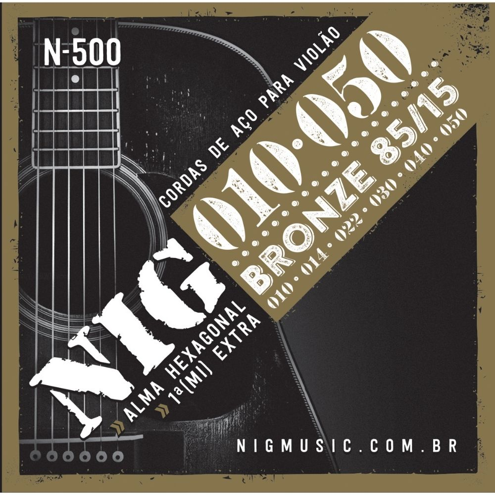 Corda para violão de aço NIG 0.10  - Casa do Roadie