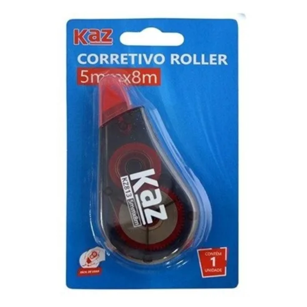 Corretivo em Fita Roller 5mm x 8m - Kaz