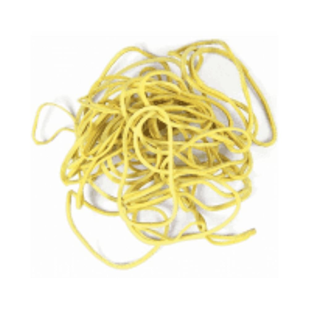 Elástico de Látex Especial Amarelo Para Dinheiro 100g