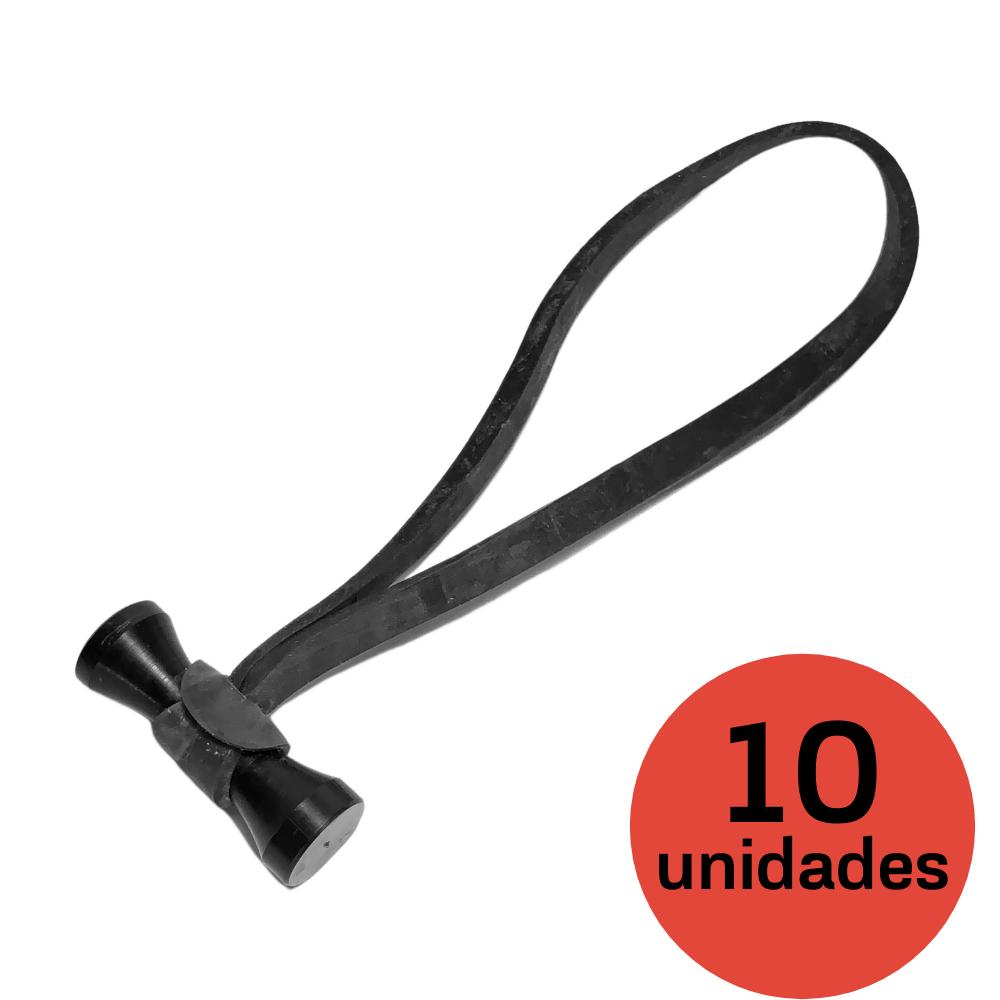 Elásticos abotoáveis Magic Ties Preto - 10 Unidades