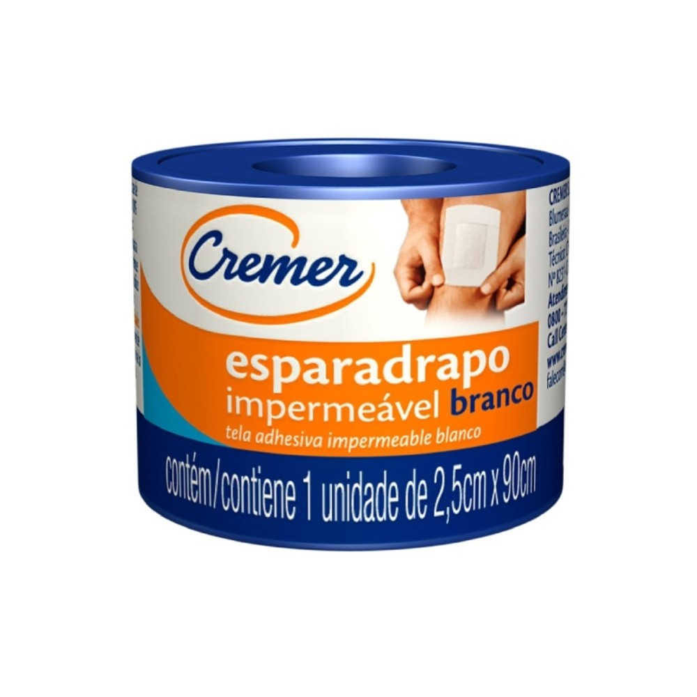 Esparadrapo Impermeável Cremer 25mm X 90cm Branca - Casa do Roadie