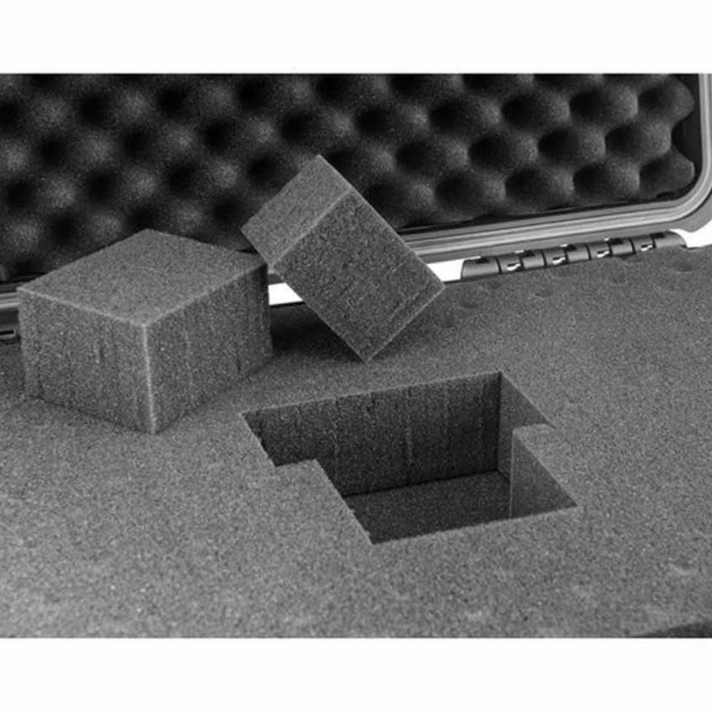 Espuma Micro Serrilhada para Case MP-0025 Cinza  - Casa do Roadie