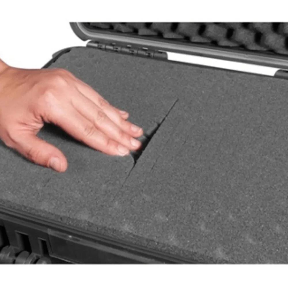 Espuma Micro Serrilhada para Case  MP-0060 com rodas Cinza  - Casa do Roadie