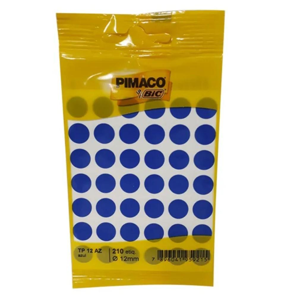 Etiqueta Adesiva Pimaco TP12 12mm Azul com 210 Unidades  - Casa do Roadie