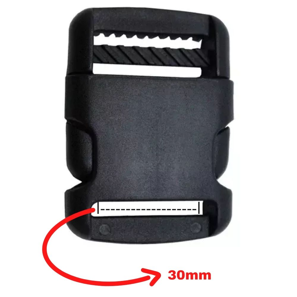 Fecho De Engate Rápido 30mm Arredondado Plástico - kit com 5 unidades  - Casa do Roadie