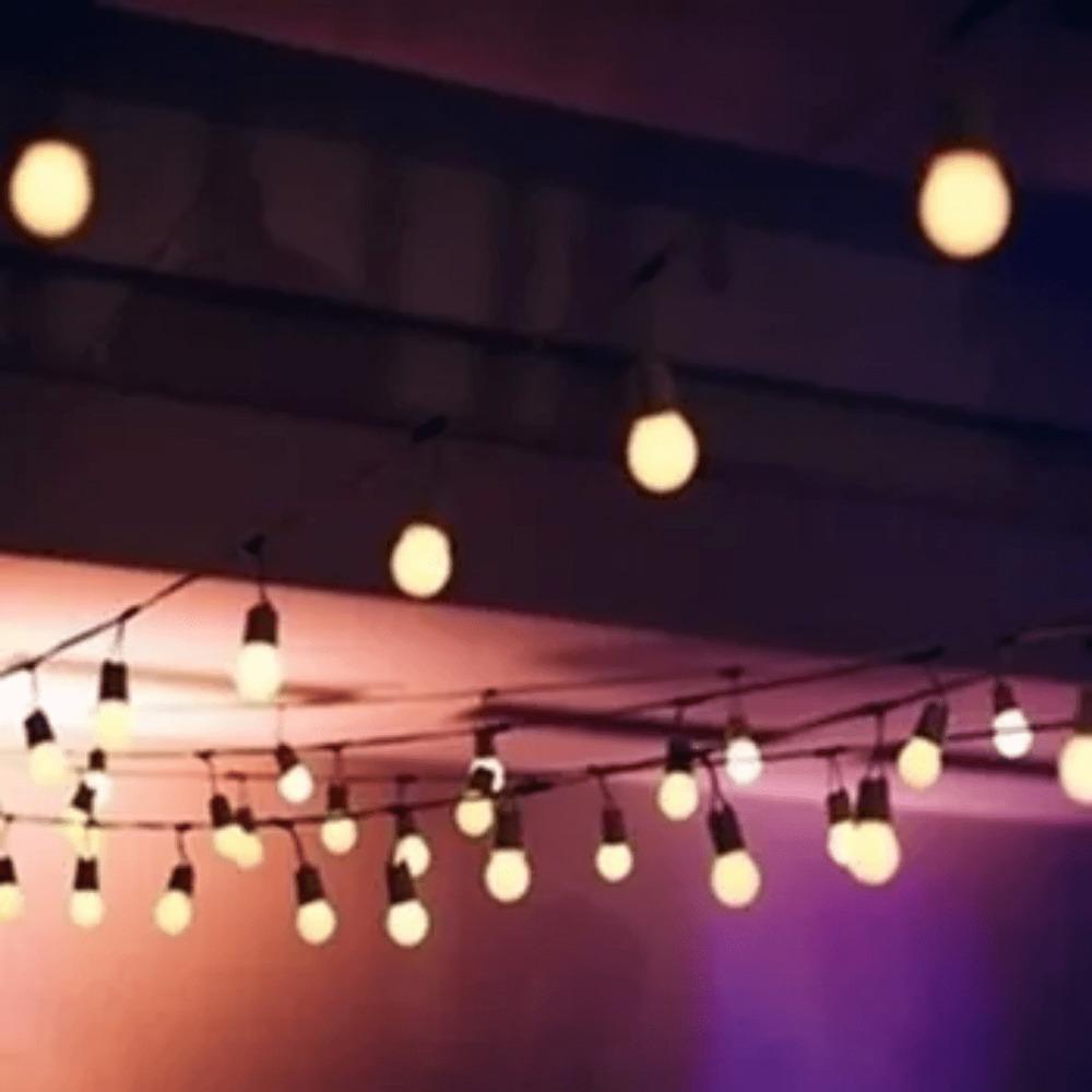 Festão Preto para Lâmpadas E27 10 Metros  - Casa do Roadie