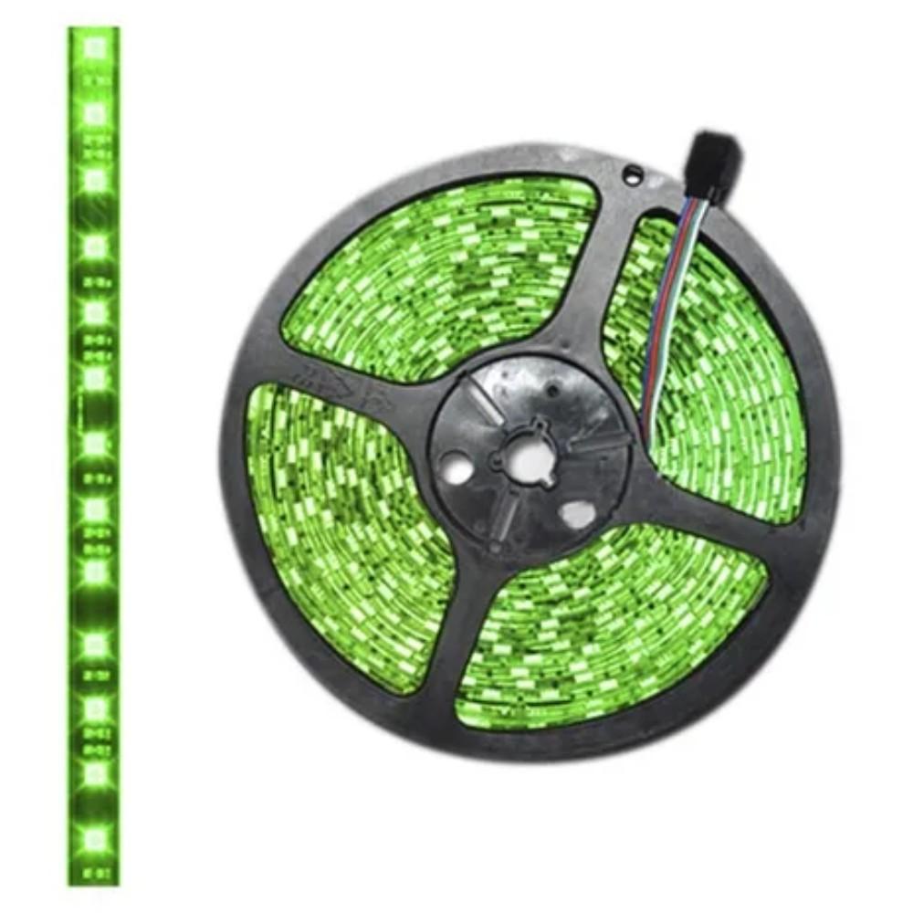 Fita de LED 12v 5m Verde com Fonte