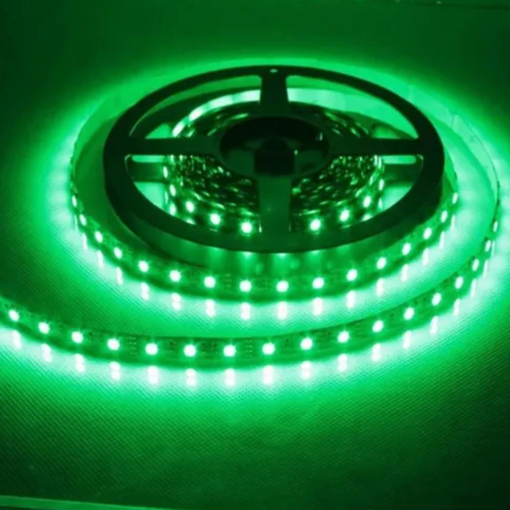 Fita de LED 12v 5m Verde com Fonte  - Casa do Roadie