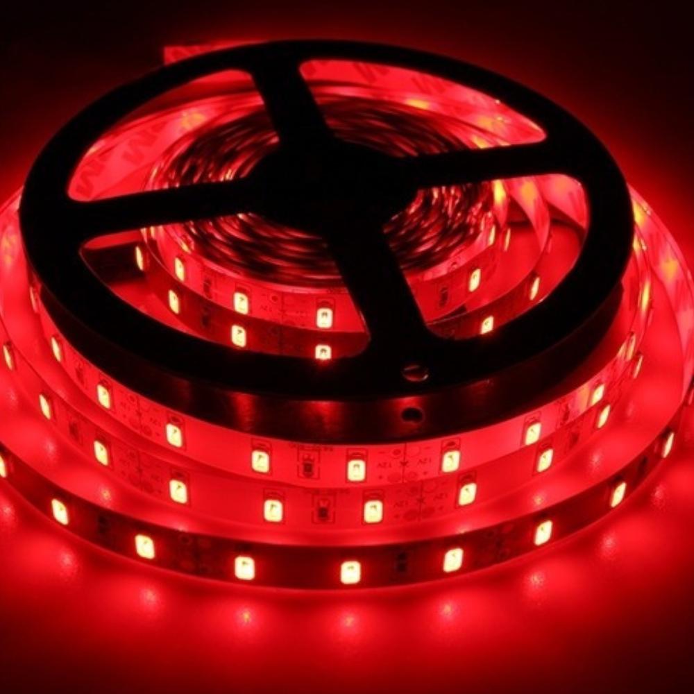 Fita de LED 12v 5m Vermelho com Fonte  - Casa do Roadie