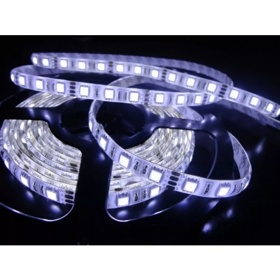 Fita de LED Foyu 12v 5m Branco Frio Com fonte  - Casa do Roadie