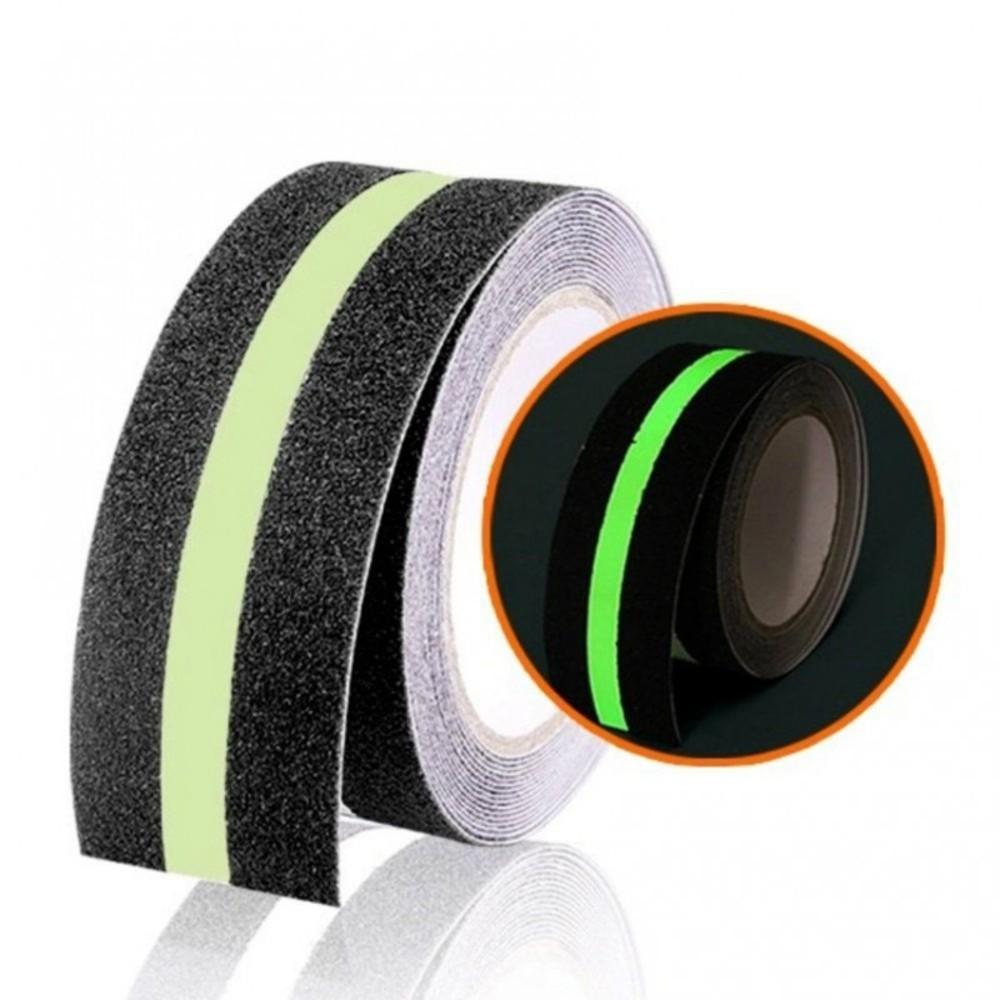Fita de Papel Antiderrapante FurnaPack 48mm X 30m com Faixa Fotoluminescente