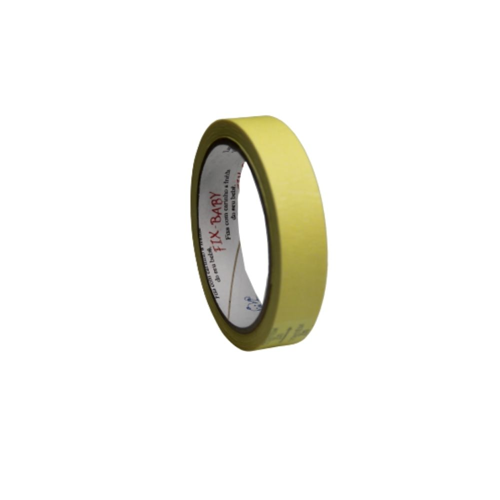 Fita de Papel Crepe 19mm x 20m Amarela