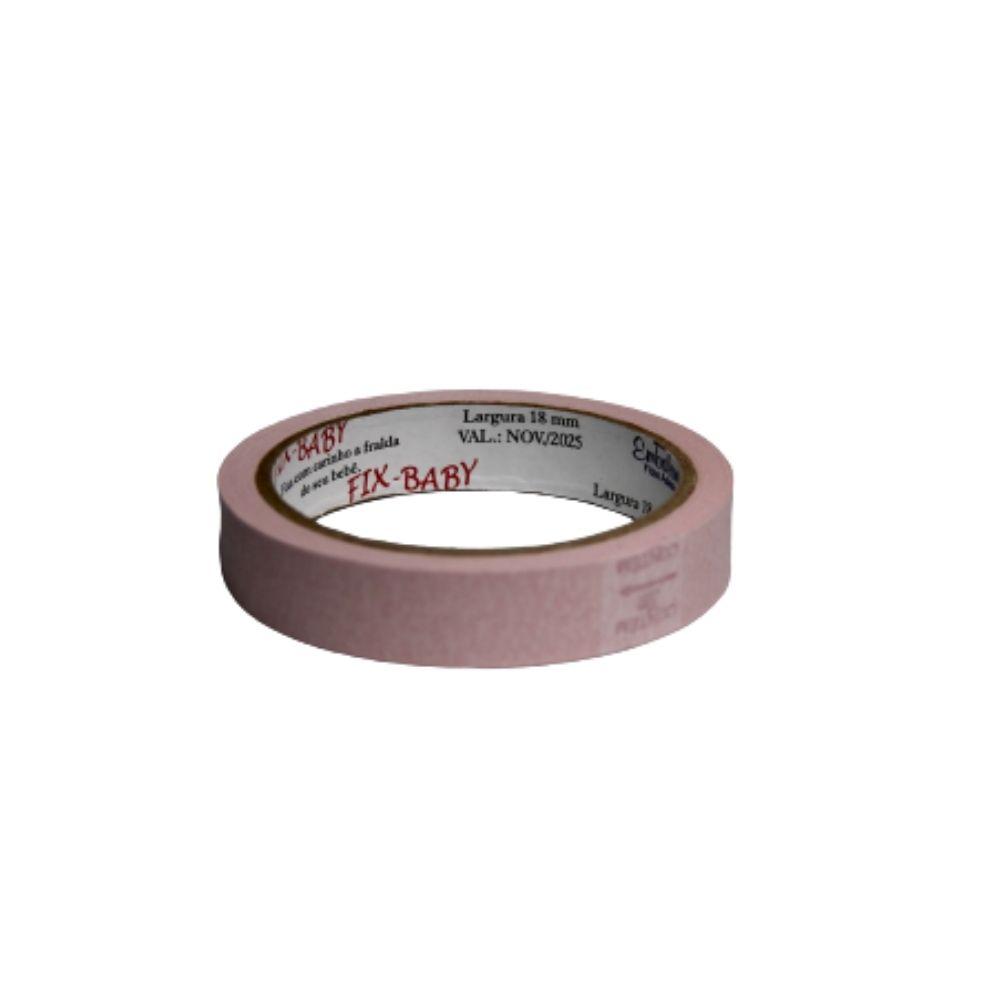 Fita de Papel Crepe 19mm x 20m Rosa Claro  - Casa do Roadie