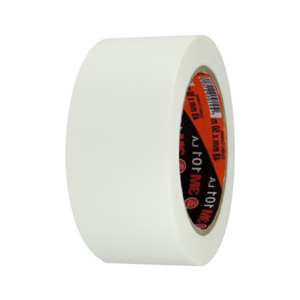 Fita de Papel Crepe Colorida 101LA 3M 48mm X 50m Branca  - Casa do Roadie