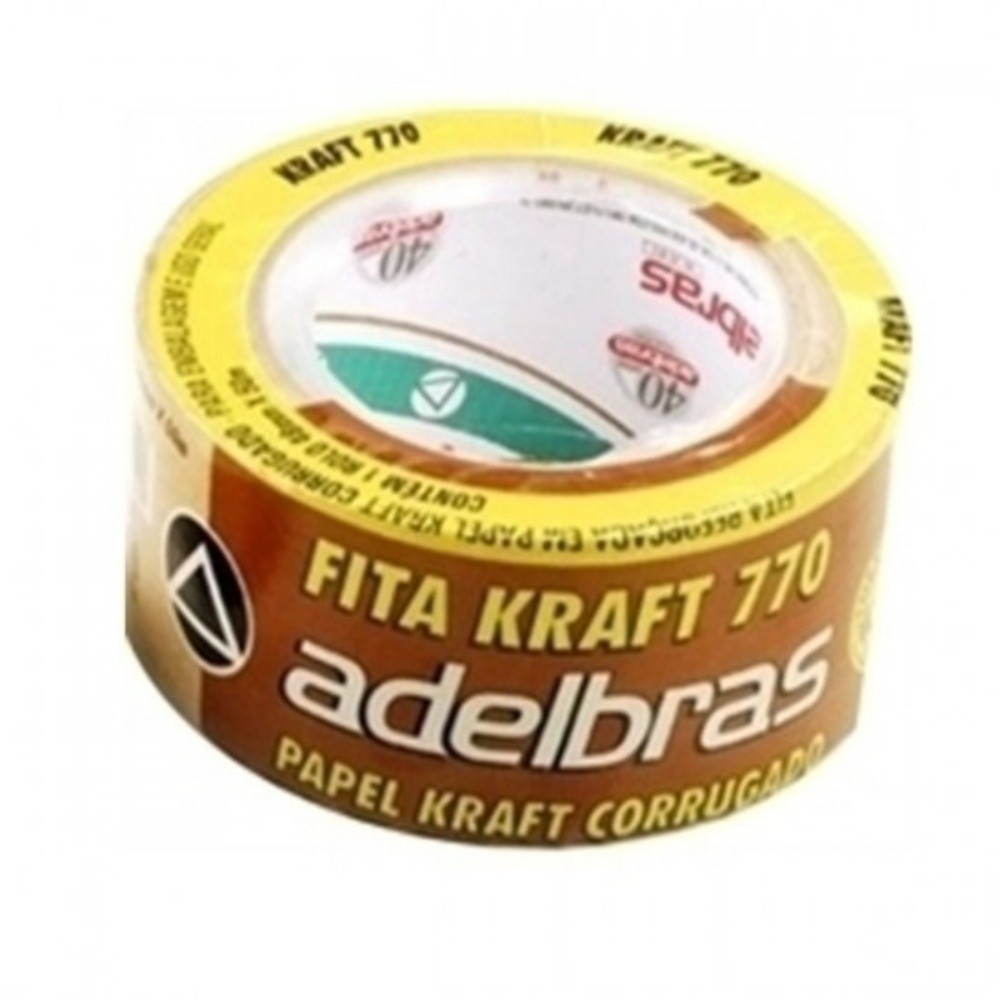 Fita de Papel Crepe Colorida Adelbras 48mm X 50m Kraft