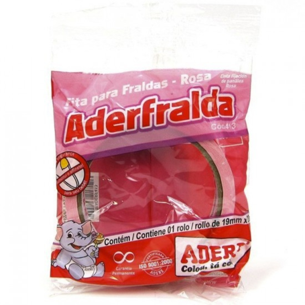 Fita de Papel Crepe Colorida Adere 19mm X 20m Rosa  - Casa do Roadie