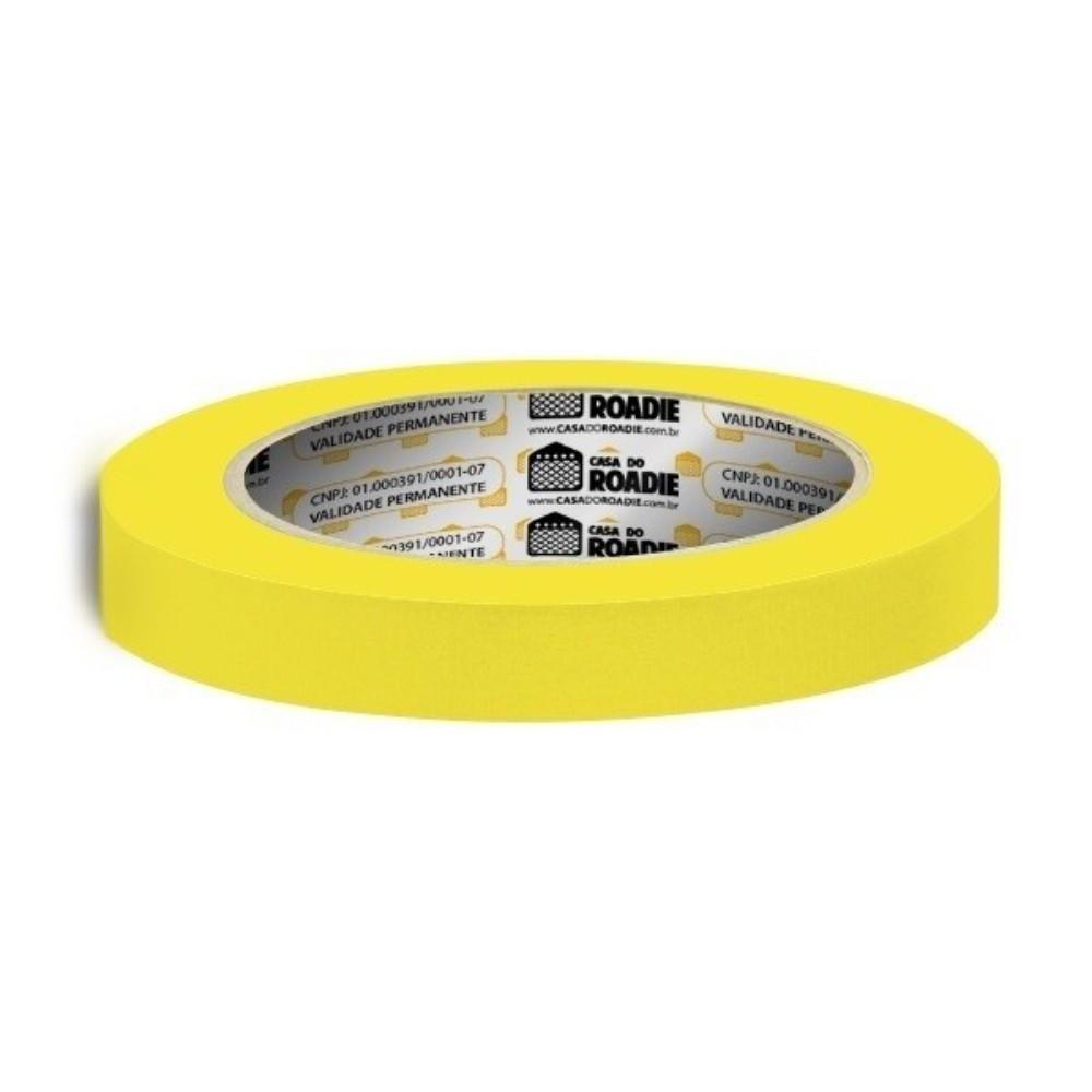 Fita de Papel Crepe Colorida Casa do Roadie 18mm X 40m Amarela  - Casa do Roadie