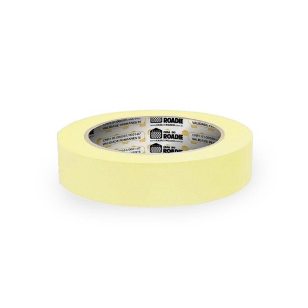 Fita de Papel Crepe Colorida Casa do Roadie 18mm X 40m Amarelo Claro  - Casa do Roadie