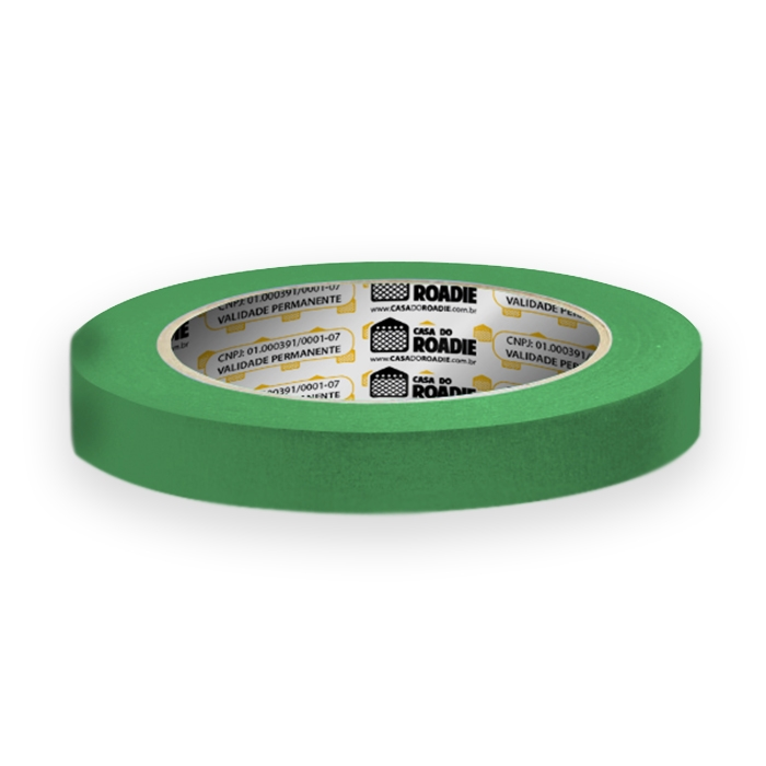 Fita de Papel Crepe Colorida Casa do Roadie 18mm X 40m Verde  - Casa do Roadie