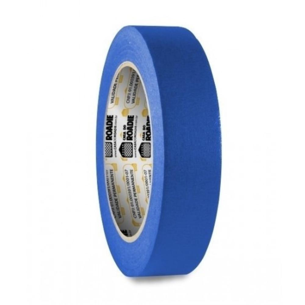 Fita de Papel Crepe Colorida Casa do Roadie 18mm X 50m Azul