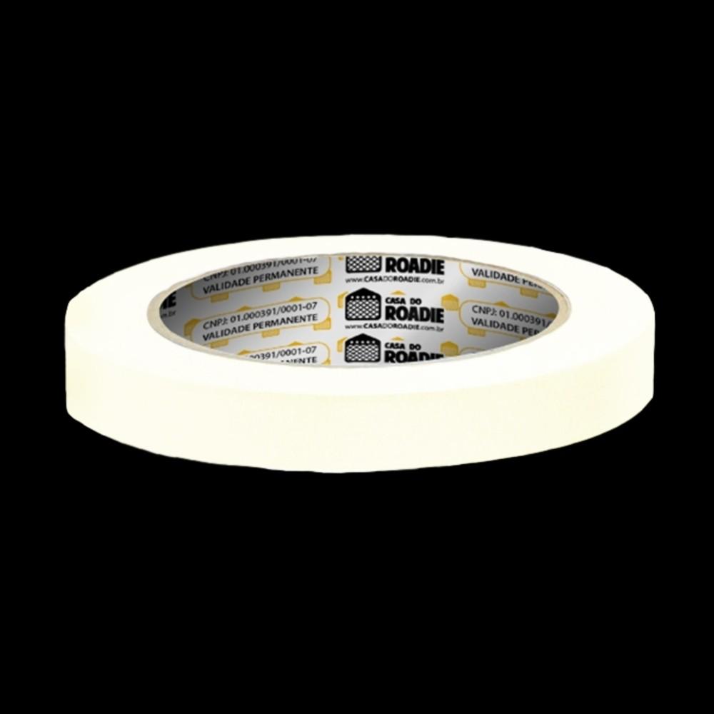 Fita de Papel Crepe Colorida Casa do Roadie 18mm X 50m Branca