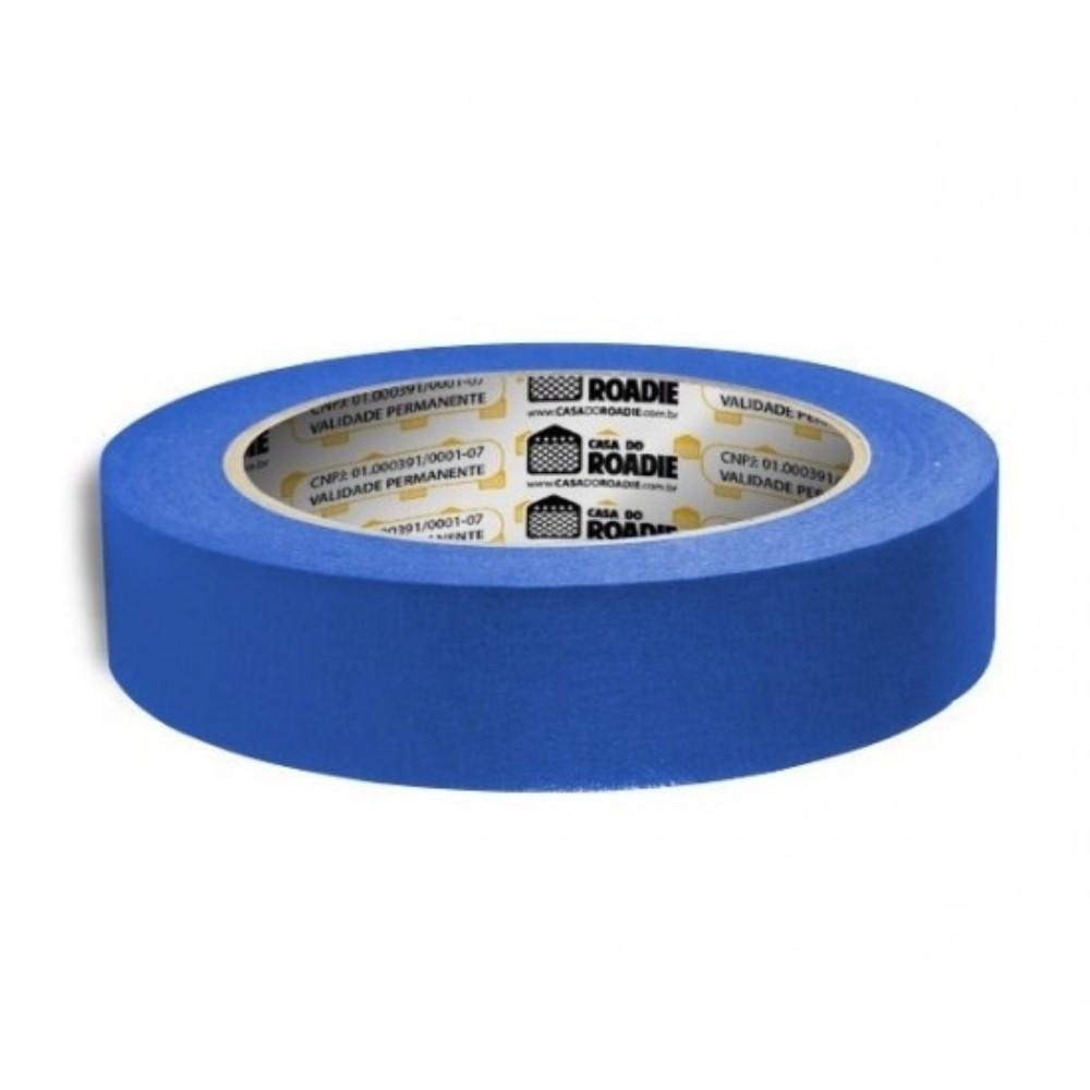 Fita de Papel Crepe Colorida Casa do Roadie 24mm X 20m Azul  - Casa do Roadie