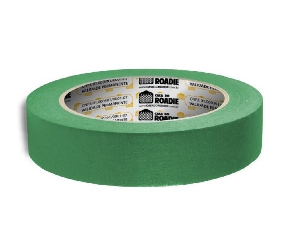 Fita de Papel Crepe Colorida Casa do Roadie 24mm X 20m Verde  - Casa do Roadie